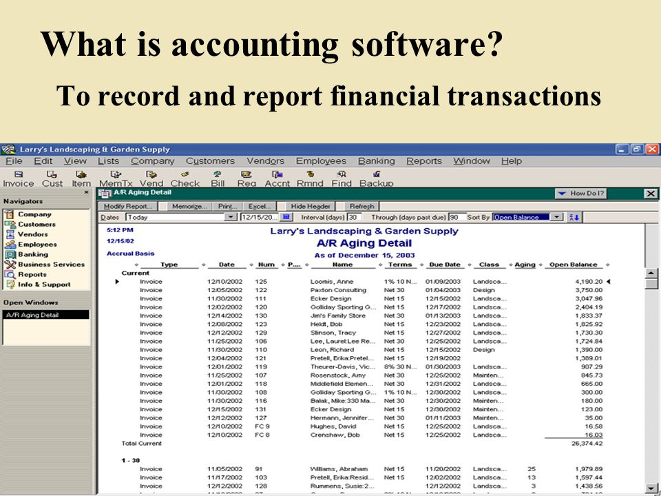 What is accounting software