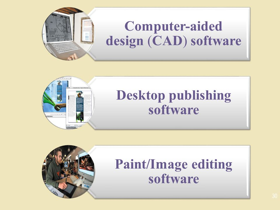 Desktop publishing software Paint/Image editing software