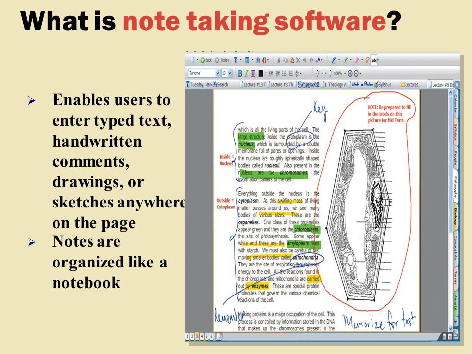 What is note taking software