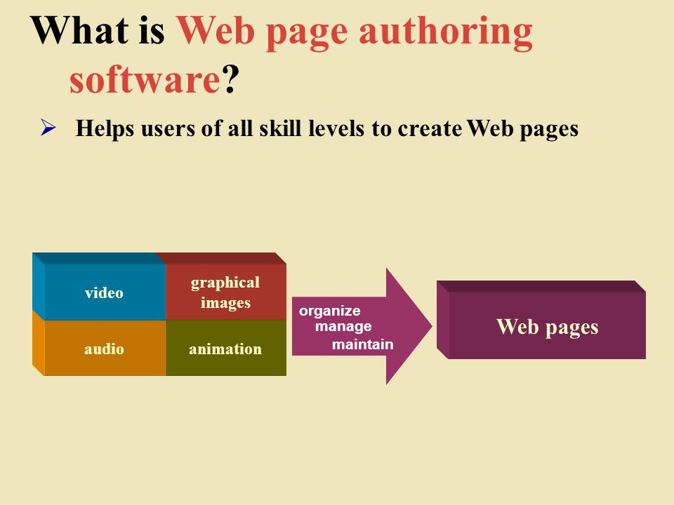 What is Web page authoring software