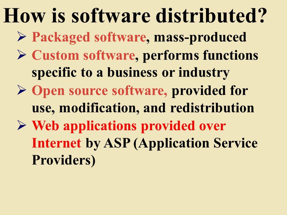 How is software distributed