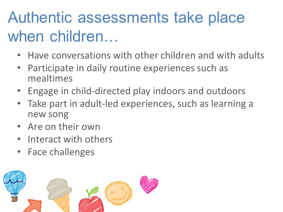Authentic assessments for adults