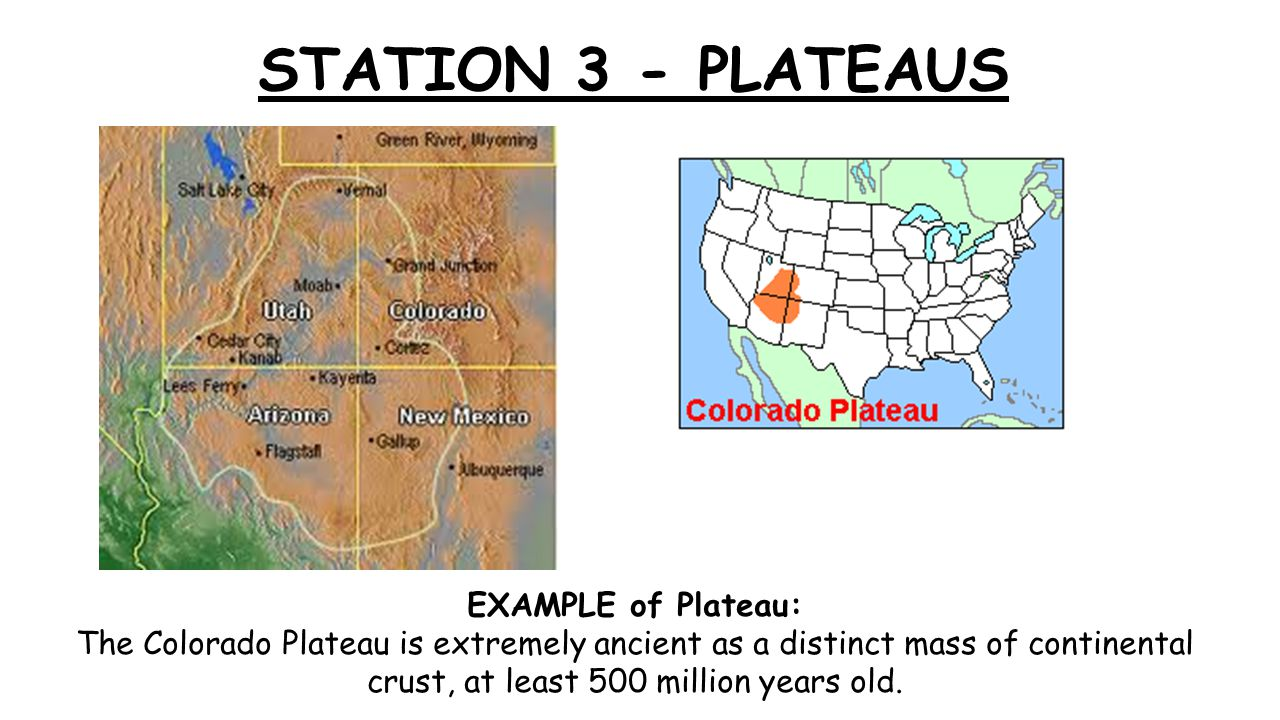 plateau mountains diagram  station 1 fault block mountains - ppt video online download