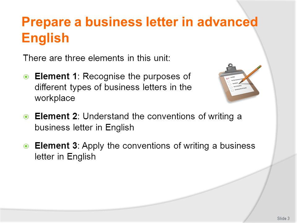 business english letter writing