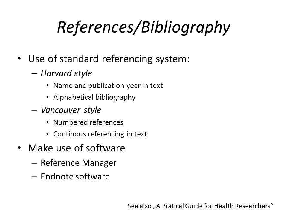 endnote how to reference guidelines