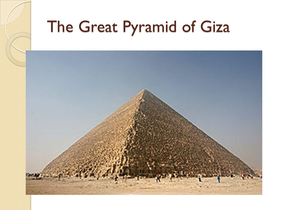 the features of the great pyramid of egypt Khufu's pyramid, known as the great pyramid of giza, is the oldest and largest, rising at 481 feet (146 meters) archeologists say it was the tallest structure in the world for about 3, 800 years.