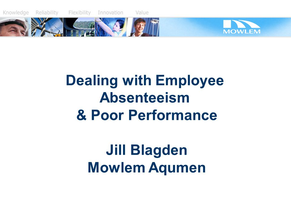 absenteeism at work how to deal with it