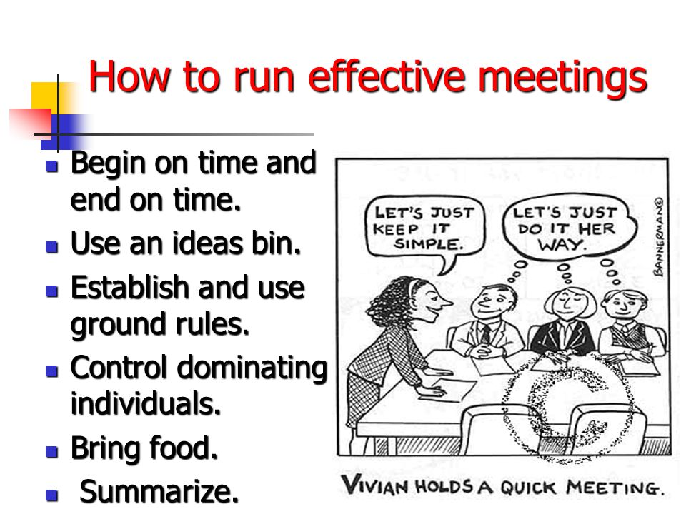 how to run a meeting pdf