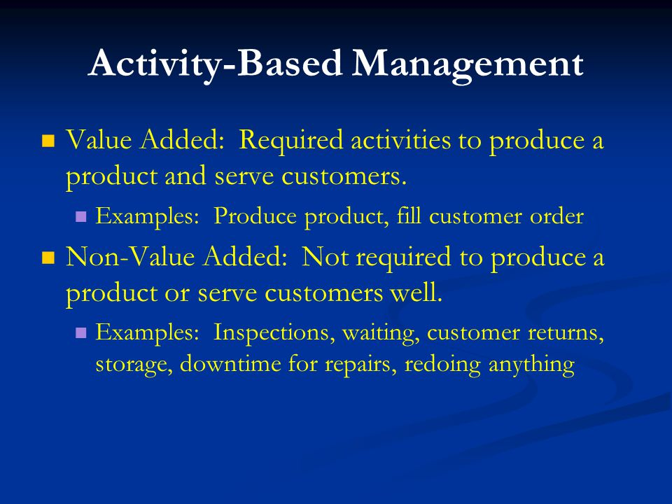 Activity-Based Costing