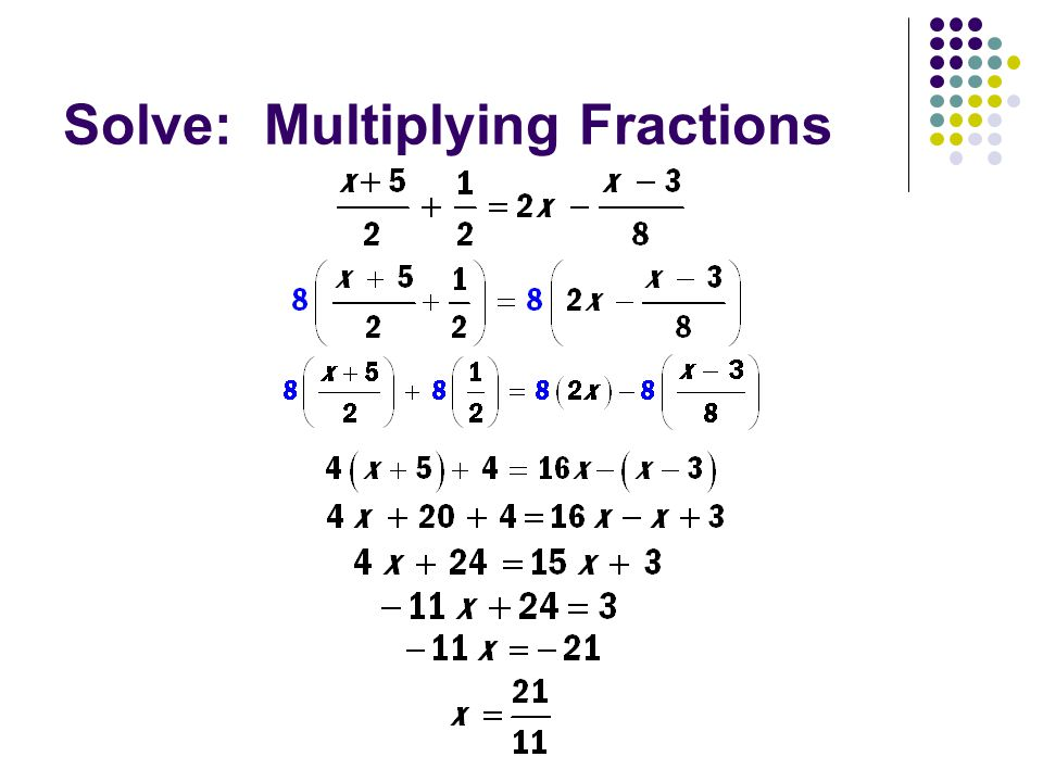 Solve: Multiplying Fractions