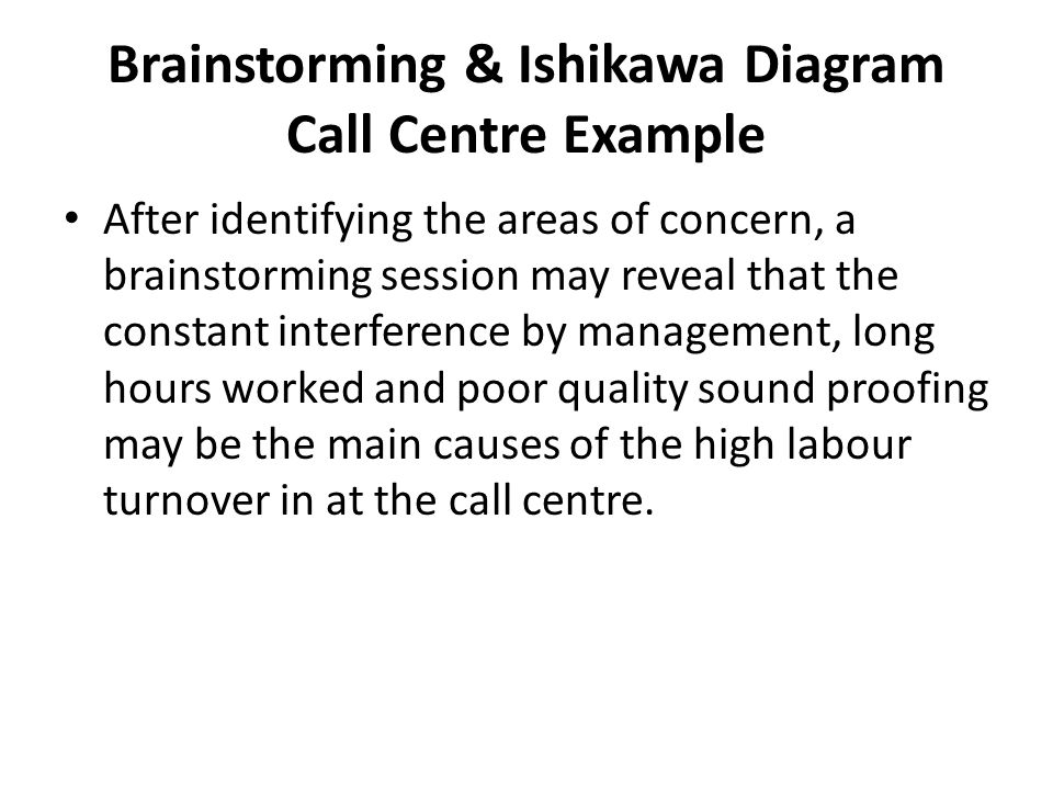 Hl operations management quality assurance ppt video online download brainstorming ishikawa diagram call centre example ccuart Choice Image