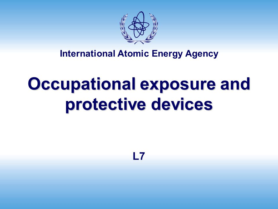 Occupational exposure and protective devices