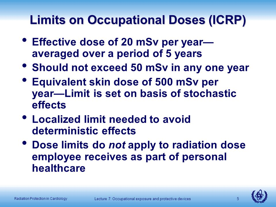 Limits on Occupational Doses (ICRP)