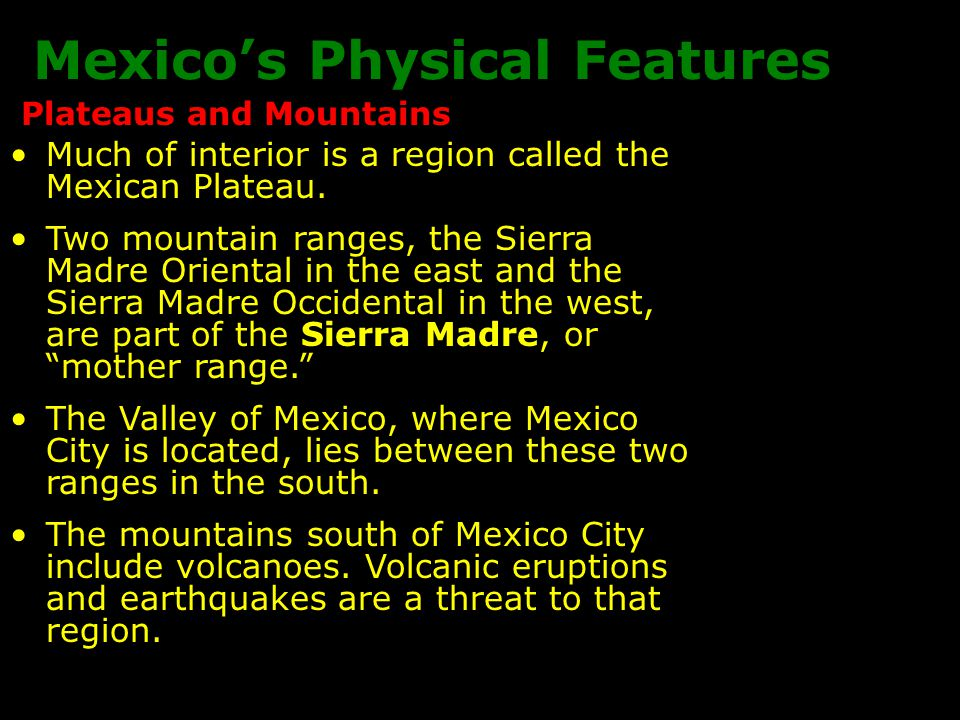 Mexico's Physical Features