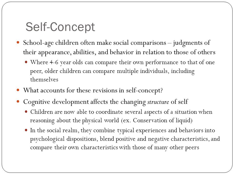 how can self concept influence individuals age Academic performance – influence of self-concept on  only high self-concept individuals see themselves  self-concept on secondary school students in.