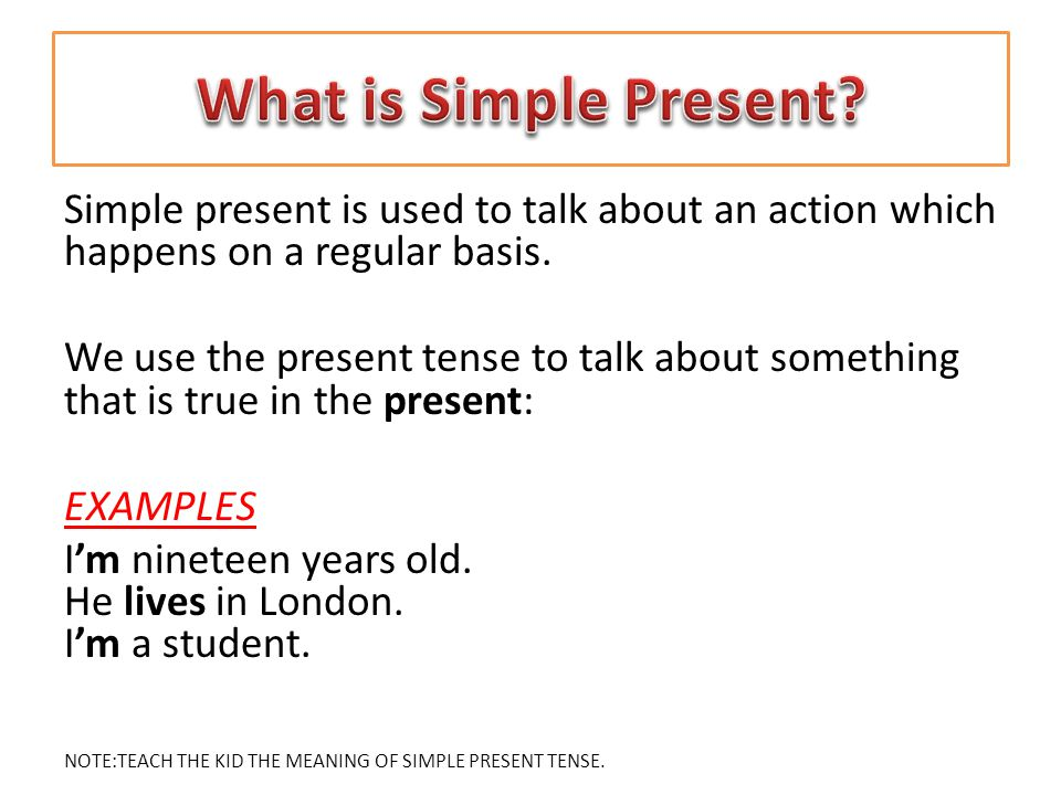 present tense examples