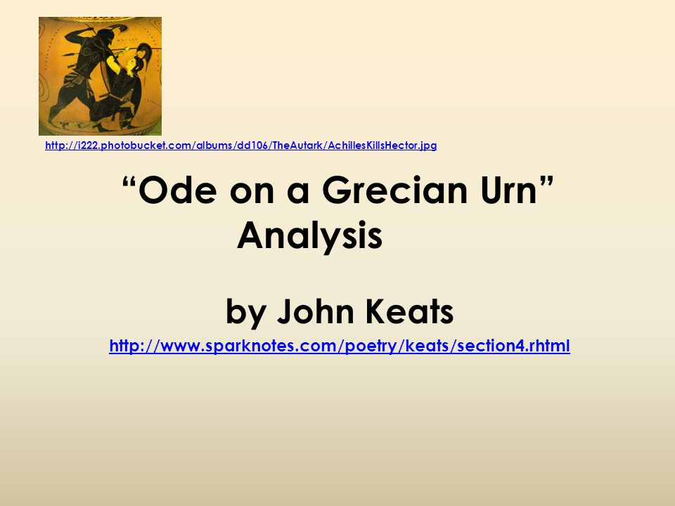 a descriptive analysis on the stanzas of ode on a grecian urn by john keats With 8 stanzas of 10 lines each and is one of six famous odes ode to a nightingale by john keats analysis of ode on a grecian urn by john keats may.