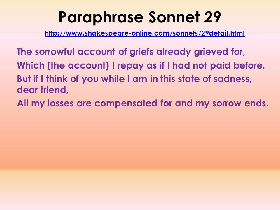 Pretty Sad Love Poem Shakespeare Photos - Valentine Gift Ideas ...