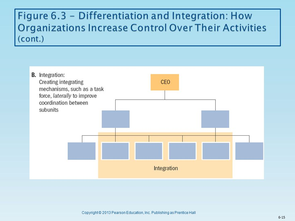 Figure 6.3 - Differentiation and Integration: How Organizations Increase Control Over Their Activities (cont.)