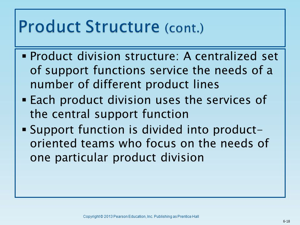 Product Structure (cont.)