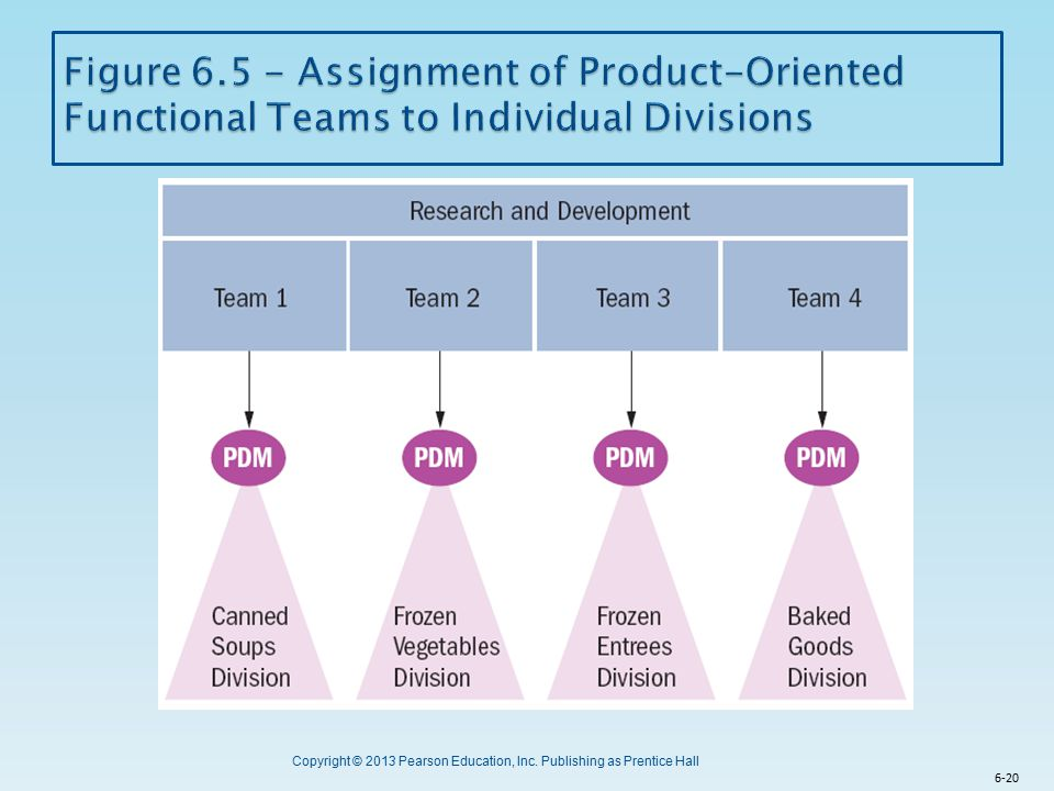Figure 6.5 - Assignment of Product-Oriented Functional Teams to Individual Divisions