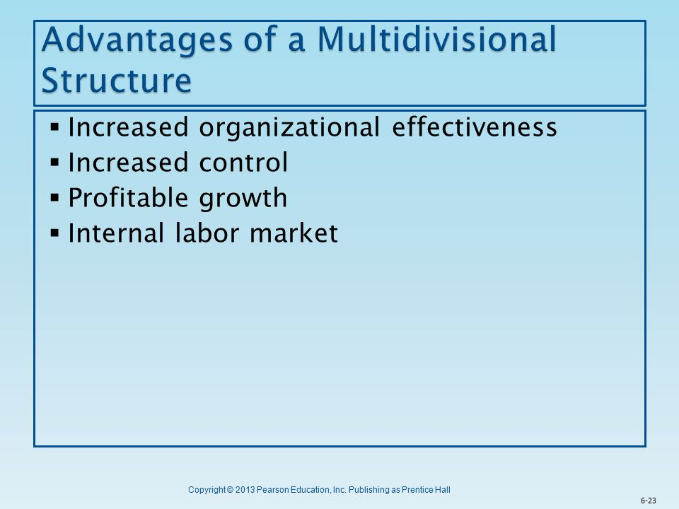 Advantages of a Multidivisional Structure