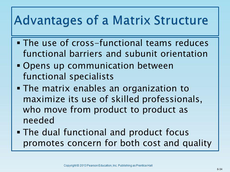 Advantages of a Matrix Structure
