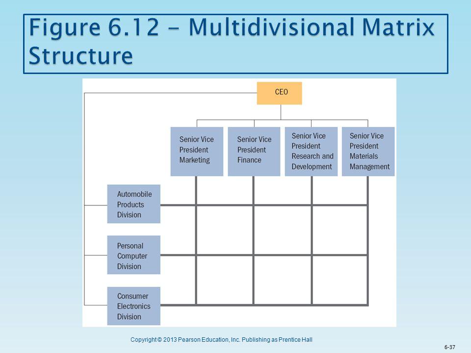 Figure 6.12 - Multidivisional Matrix Structure