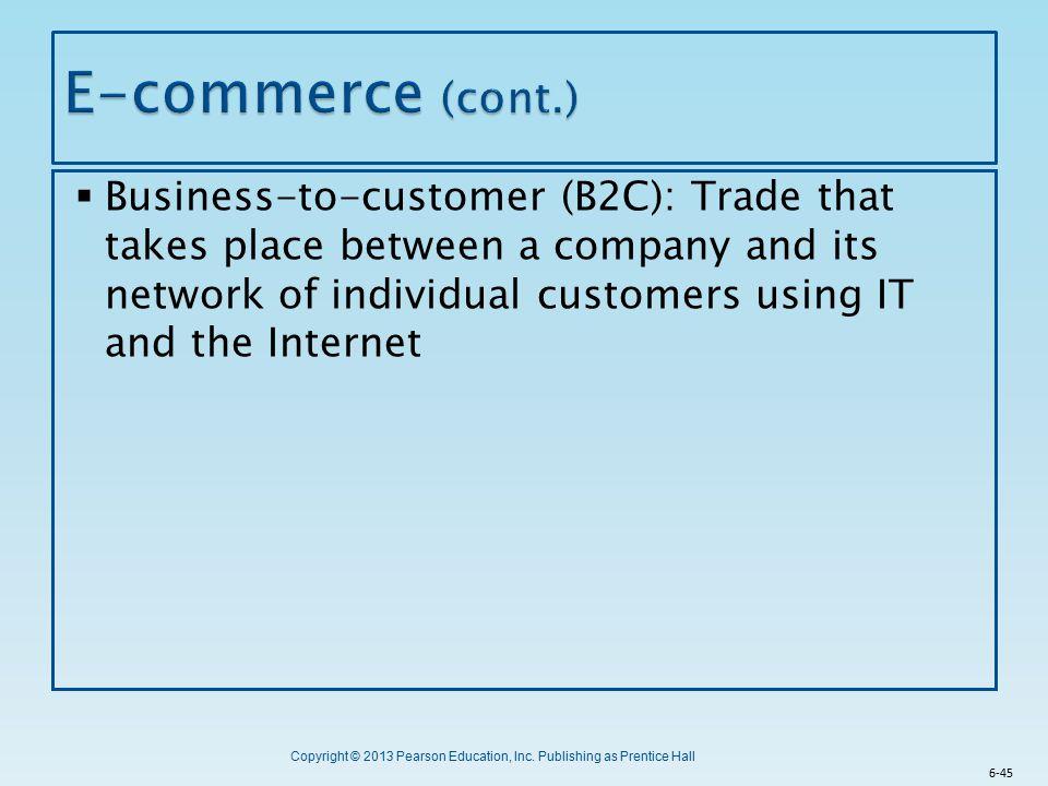 E-commerce (cont.)
