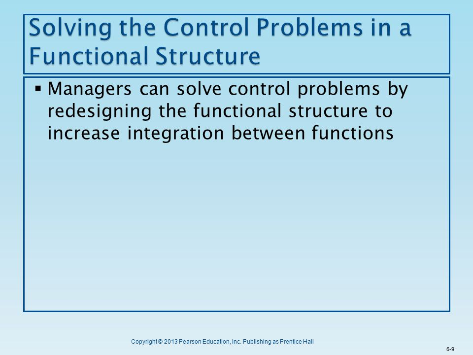 Solving the Control Problems in a Functional Structure