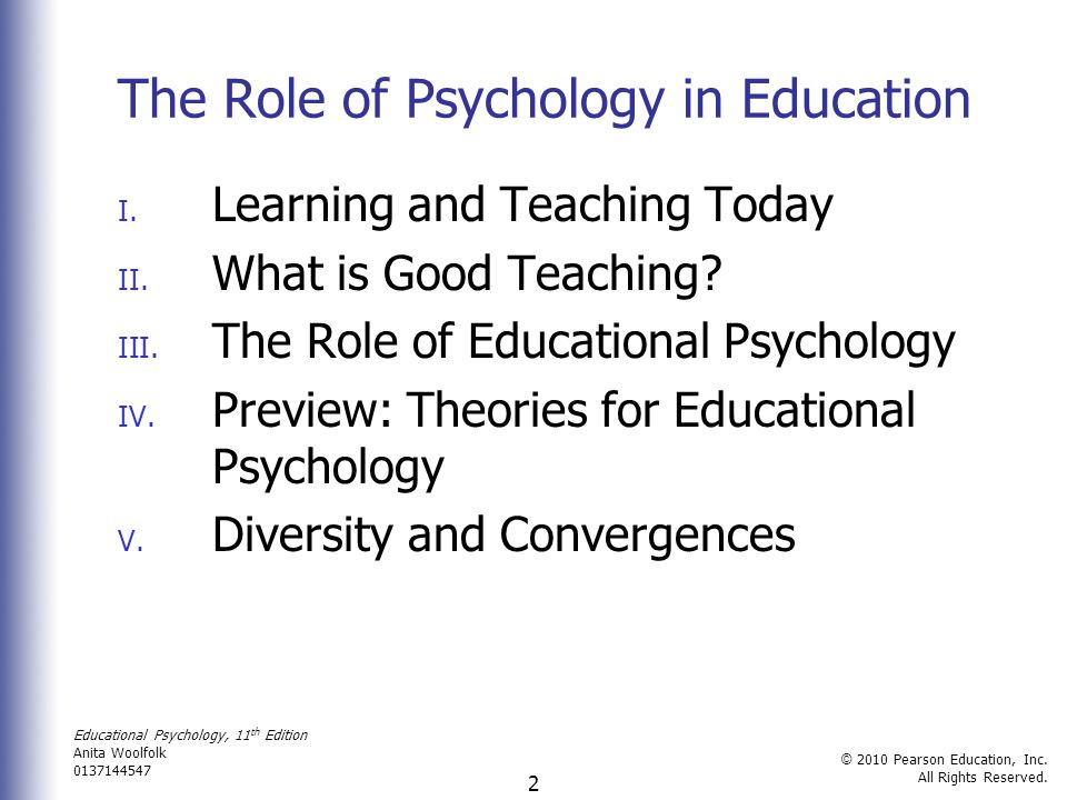 educational psychology and learning Educational psychology program : judith herb college of education : the university of toledo.