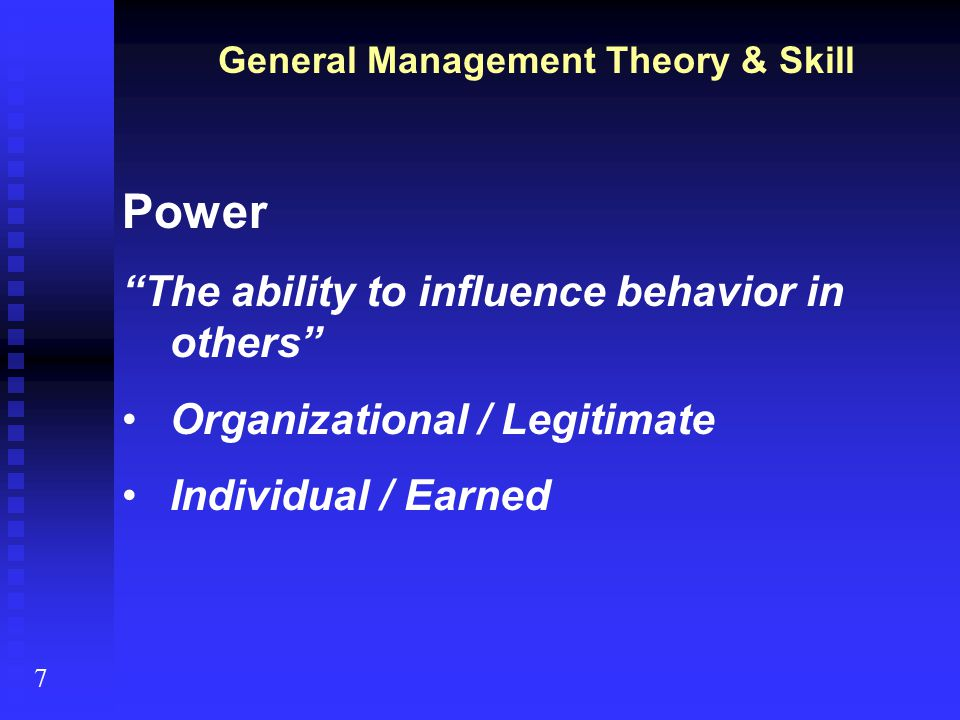 Management Theories & Concepts at the Workplace
