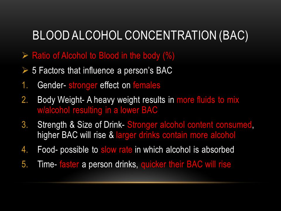 blood alcohol content essay Continued but your liver can only handle so much alcohol each hour whatever's left over stays in your blood, so the more you drink, the higher your blood alcohol concentration as your bac.