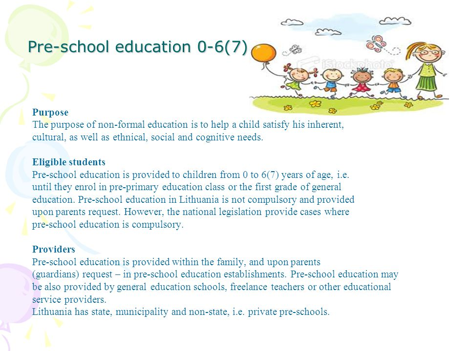Pre-school education 0-6(7)