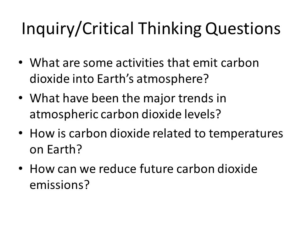 Inquiry/Critical Thinking Questions