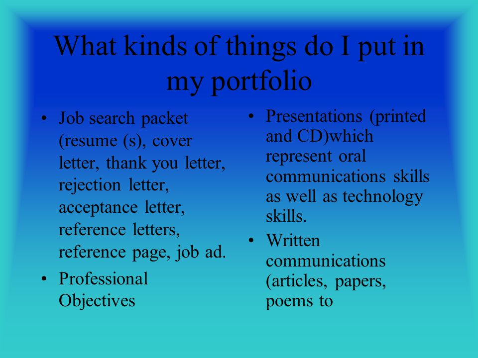 introduction to portfolios ppt