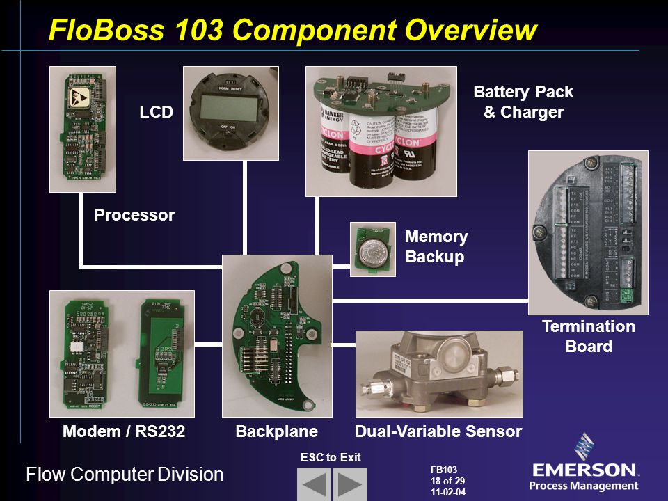 FloBoss+103+Component+Overview flobosstm 103 flow manager ppt video online download floboss 107 wiring diagram at edmiracle.co