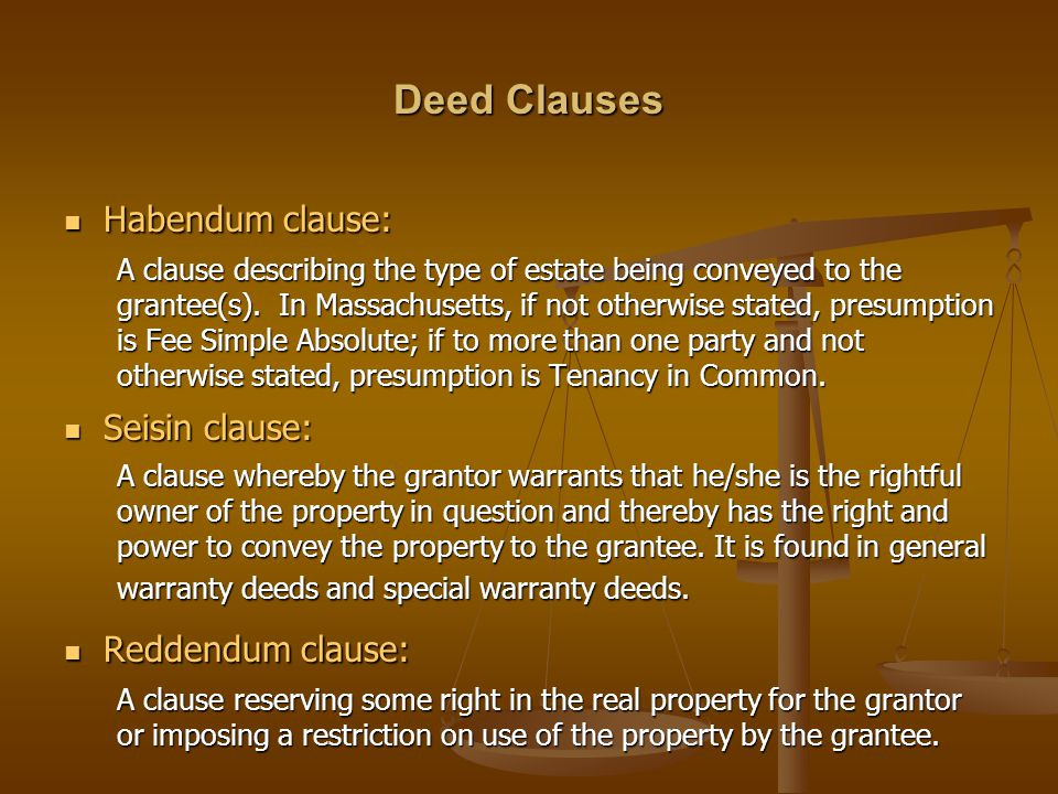 Real Estate Law Deeds. - Ppt Video Online Download