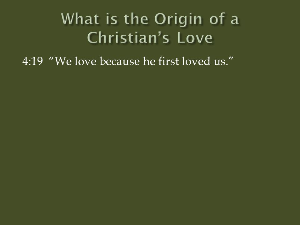 explain christian concepts of love John piper explains how christian hope frees us to love others.