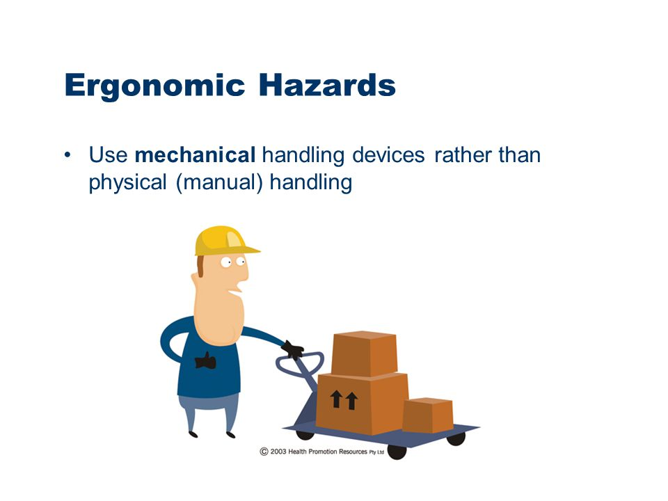Ergonomic Lifting Solutions : Department of education ppt video online download