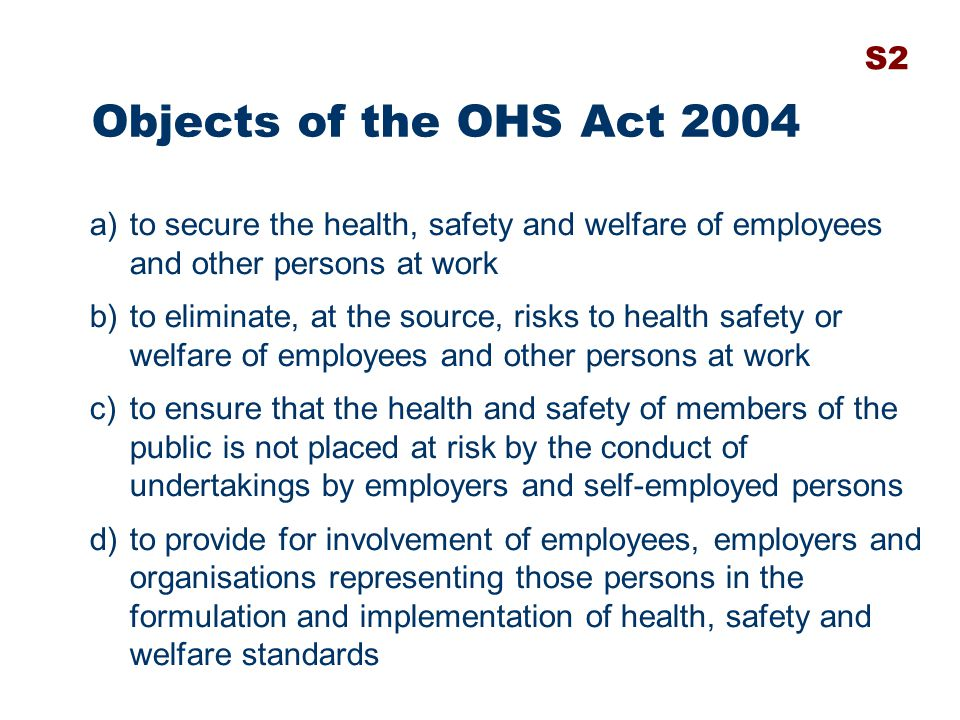 safety health and welfare of the