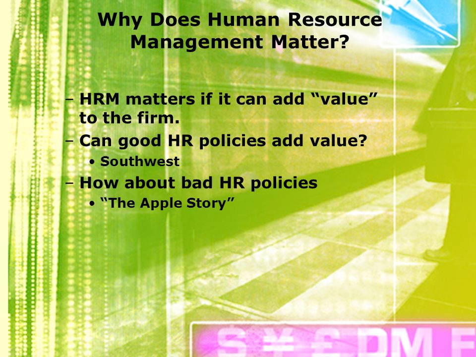 human resources training and individual development ppt  why does human resource management matter