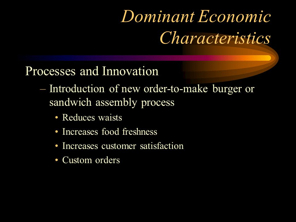 auto industry dominant economic characteristics Industry's dominant economic characteristics market size:  industry's dominant economic characteristics author: hattonlg last modified by: hattonlg.
