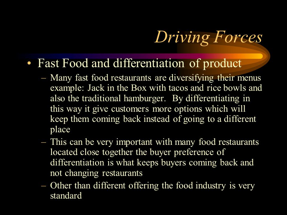 Study shows driving force of commercial foodservice industry