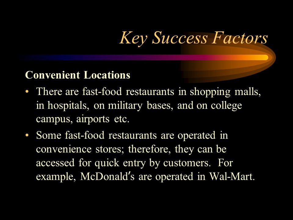 wal mart key success factor walmart People are key to wal-mart's business and it invests time and money in training people, and retaining a developing them weaknesses.