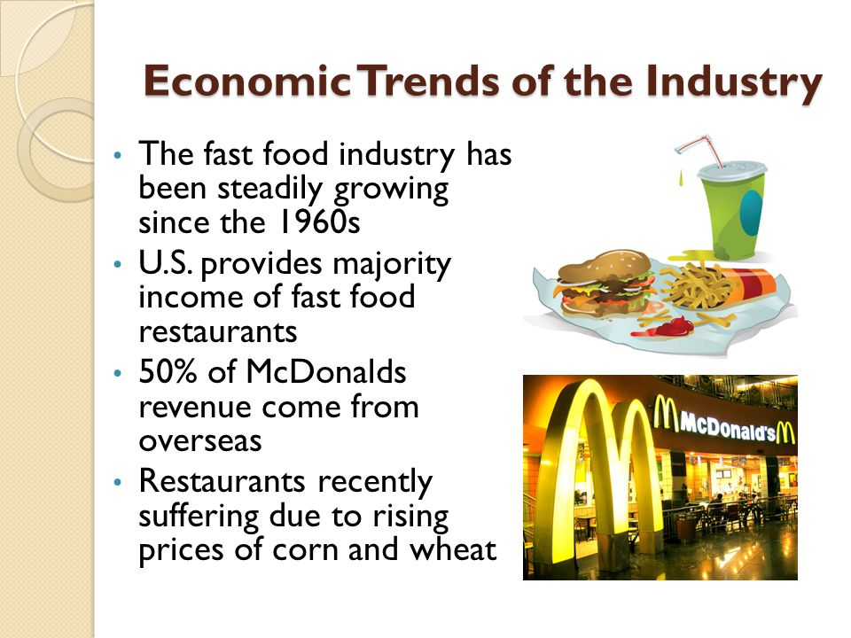 fast food market in canada economics The restaurant industry isn't as tied to discretionary spending as it once was, but it's still very sensitive to changes in the overall economy while differing customer preferences and changes in.