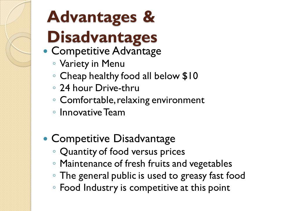 Advantages And Disadvantages Of Menu
