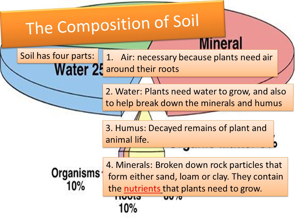 Unit 1 3 understanding interactions between natural and for Nature and composition of soil