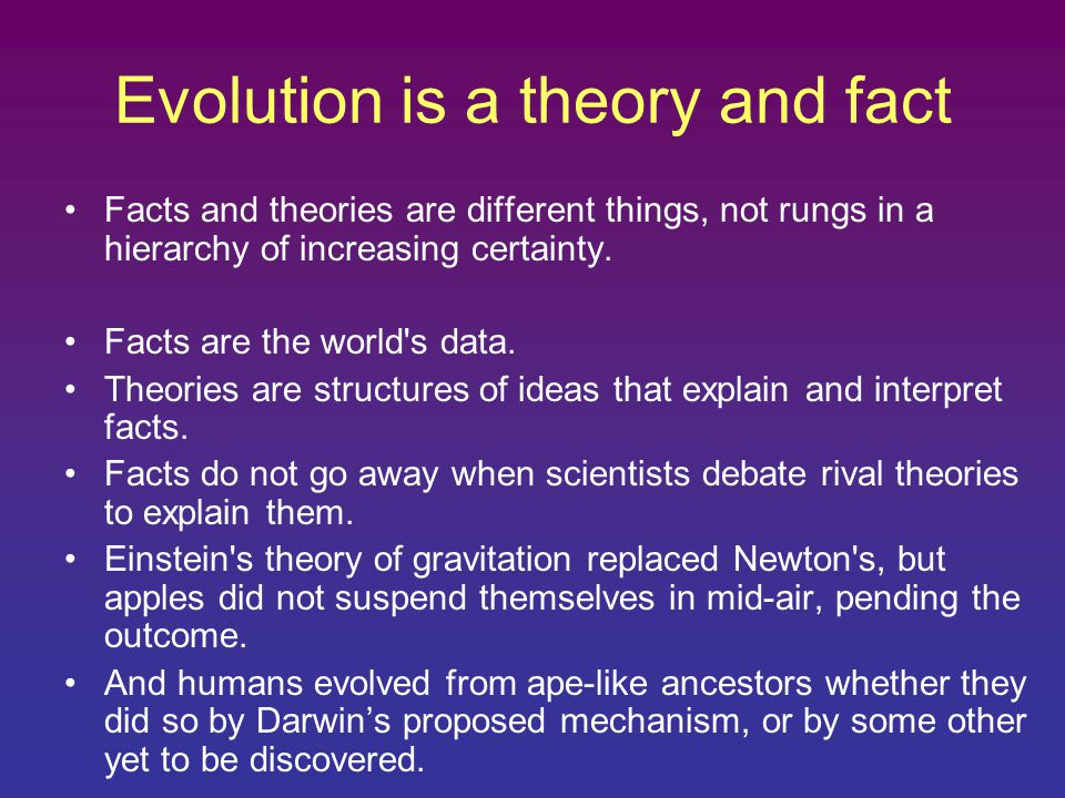 understanding the theory and science of evolution Geoscience research institute some philosophical implications of the theory of evolution john d clark this understanding took the form of the horrid doubt.