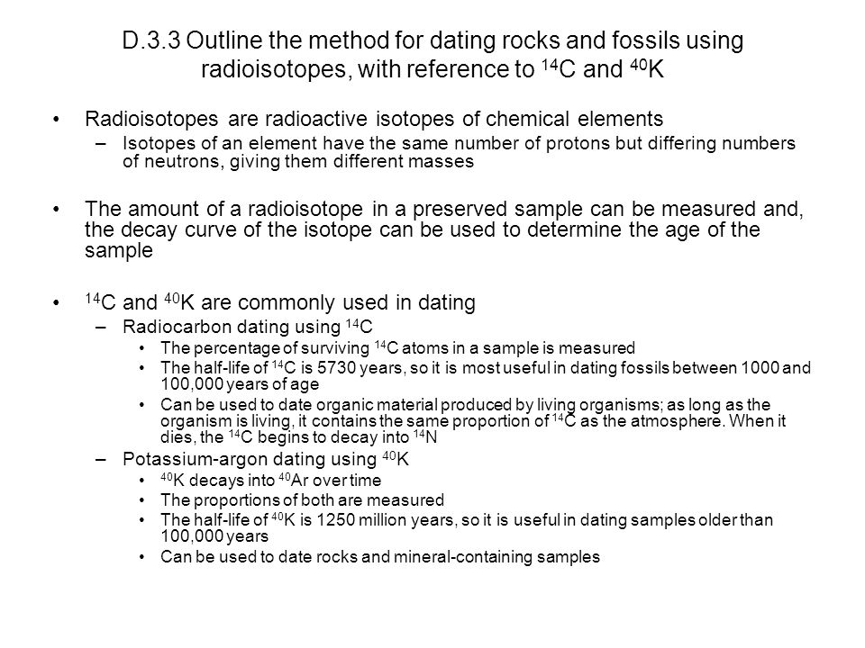 Dating methods of rocks